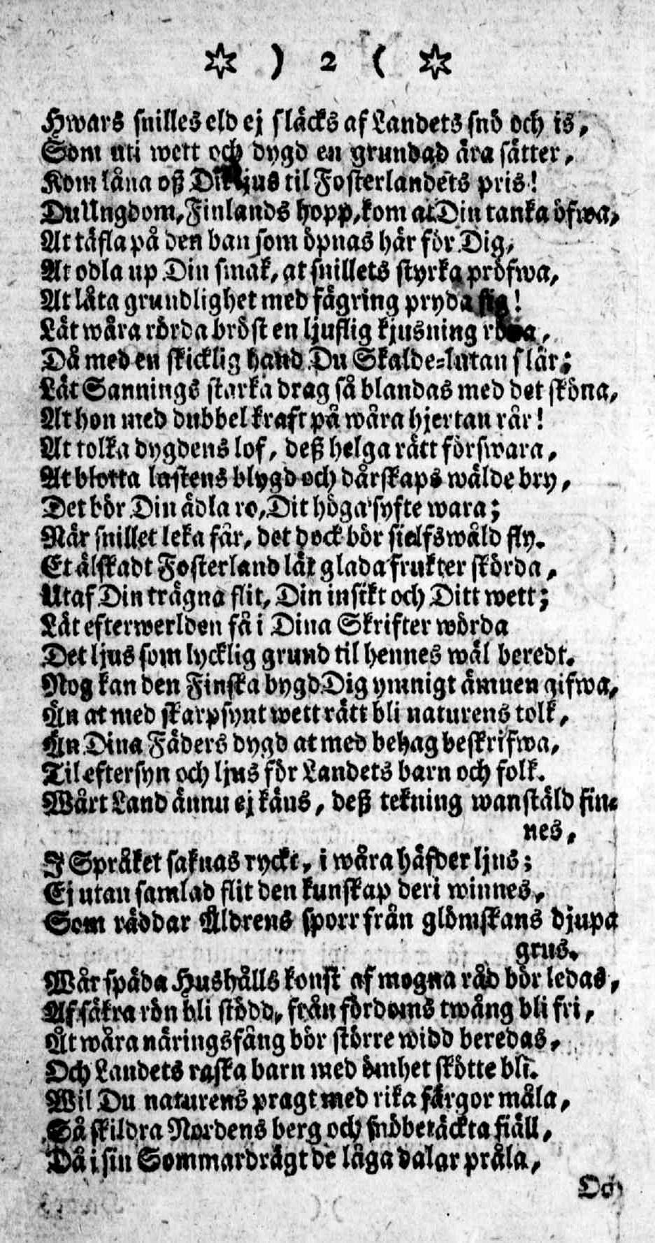 Tidningar Utgifne af et Sällskap i Åbo, 15.01.1771, nro 1, sivu 2