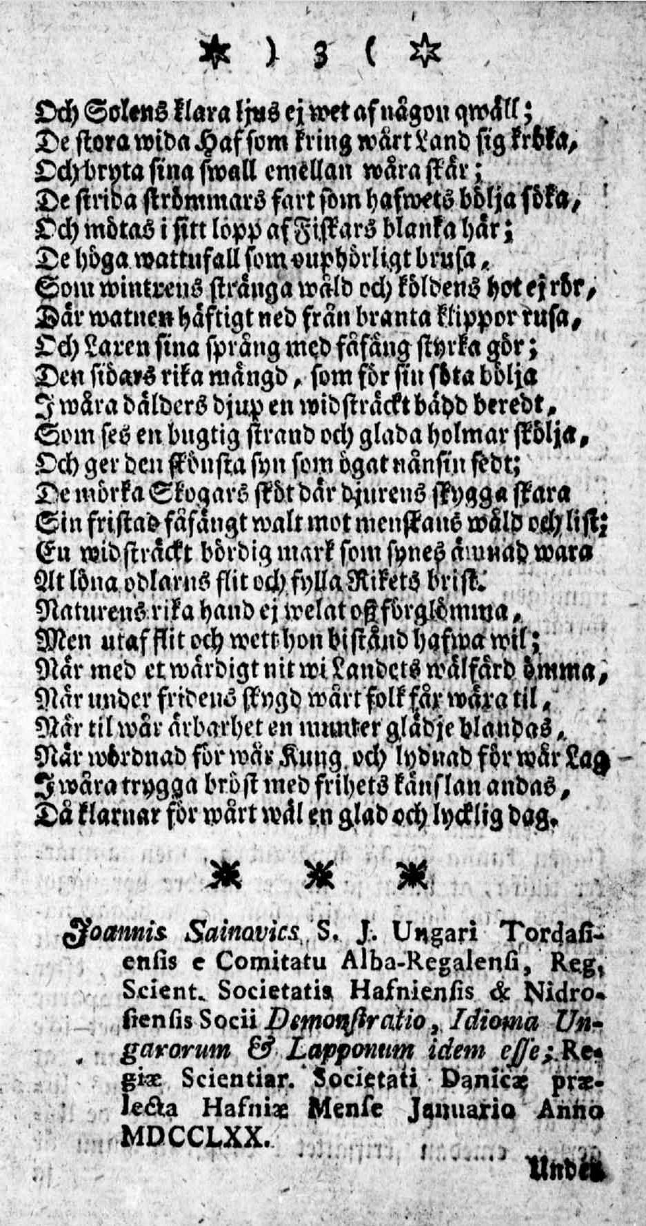 Tidningar Utgifne af et Sällskap i Åbo, 15.01.1771, nro 1, sivu 3