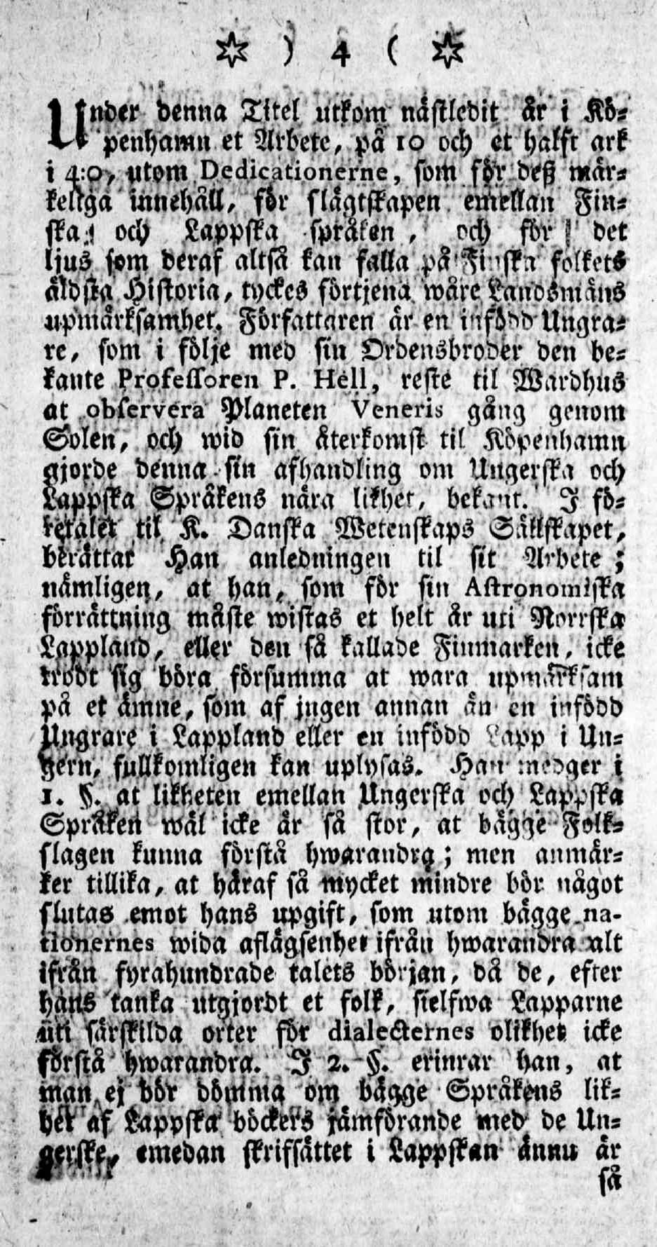 Tidningar Utgifne af et Sällskap i Åbo, 15.01.1771, nro 1, sivu 4