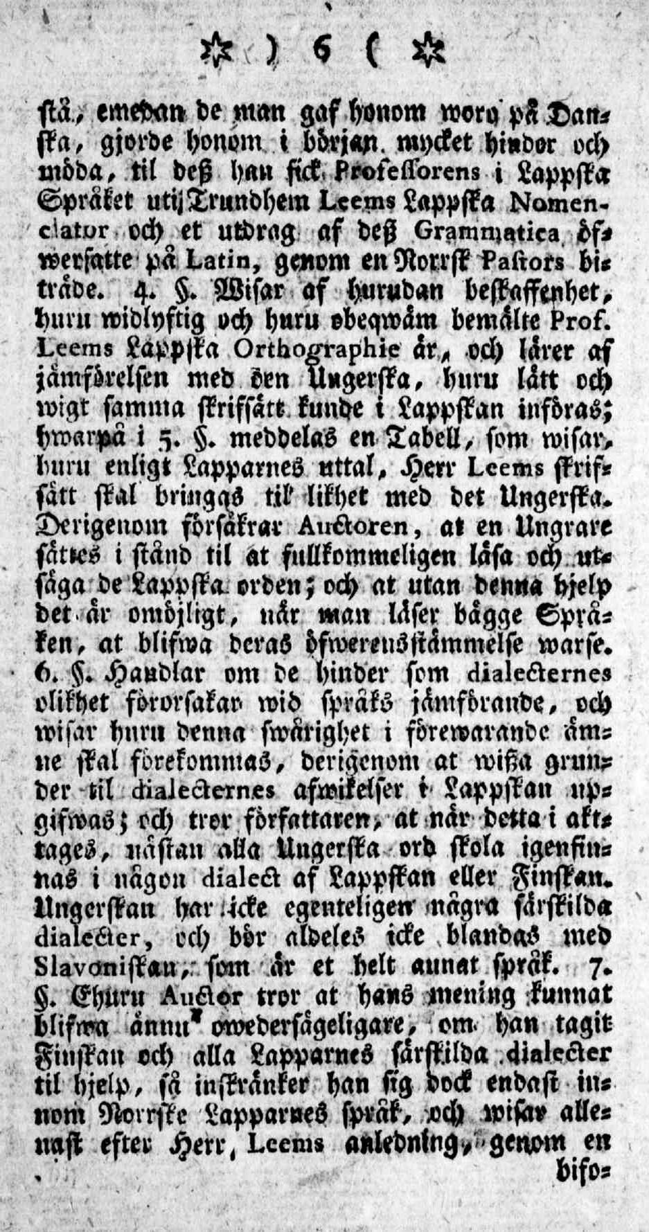 Tidningar Utgifne af et Sällskap i Åbo, 15.01.1771, nro 1, sivu 6