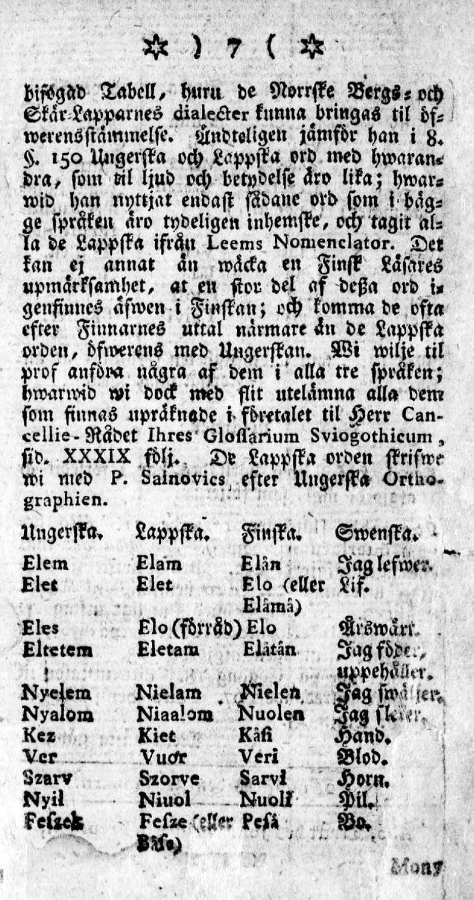 Tidningar Utgifne af et Sällskap i Åbo, 15.01.1771, nro 1, sivu 7